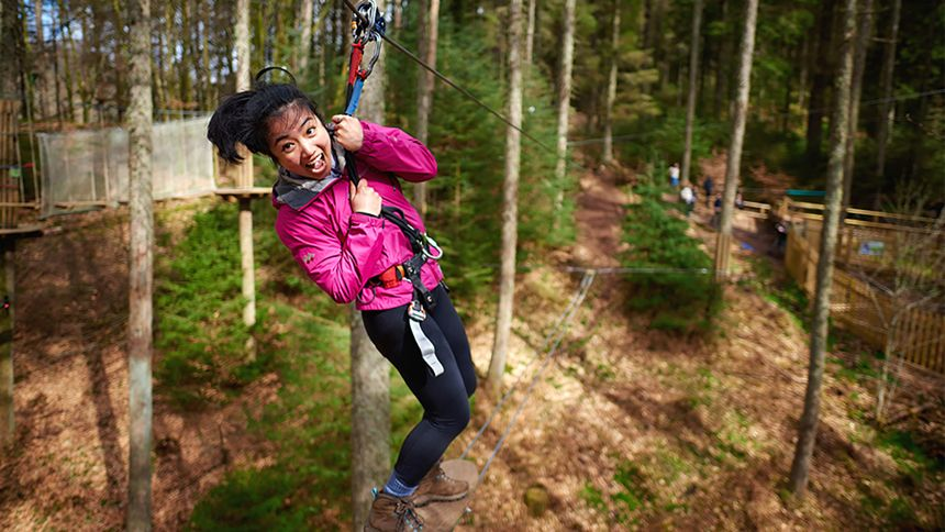 Go Ape Adventure. 10% Carers discount