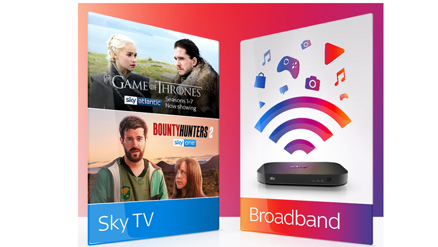 Sky Broadband & TV. £42 a month