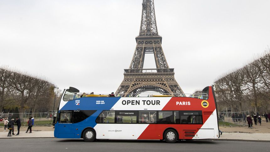 Paris Sightseeing Bus Tours. 10% Carers discount