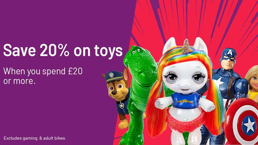 Argos Toy Event. Save 20% on toys