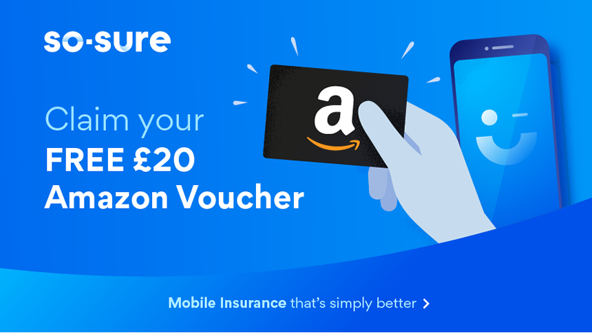 so-sure (OMG) - From £2.20 a month + £20 Amazon voucher