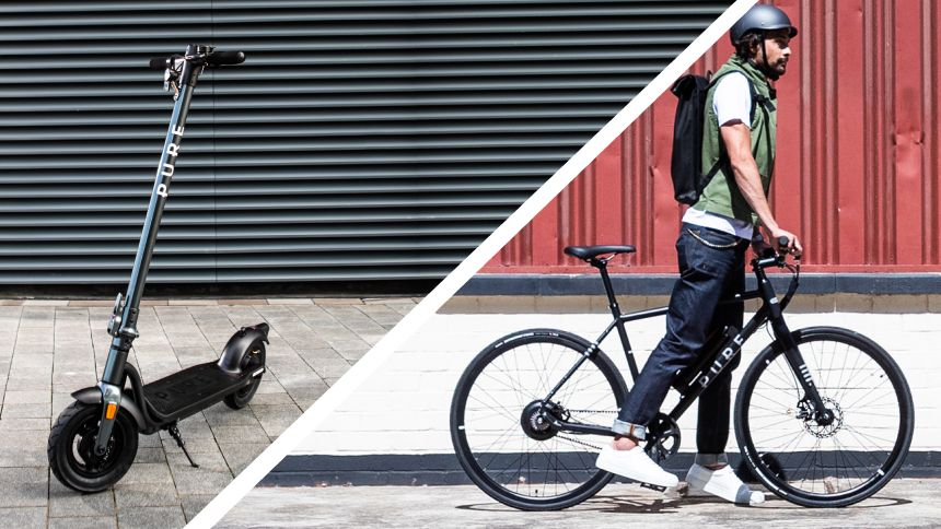 Pure Electric e-scooters & e-bikes - 5% Carers discount