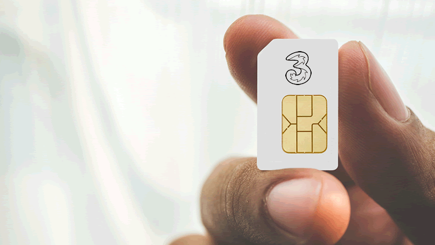 Three Sim Only - 8GB for £8 a month
