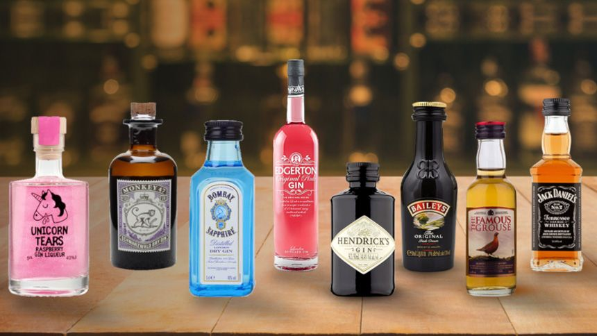 Alcoholic Miniature Bottle Drinks. £5 off when you spend £35