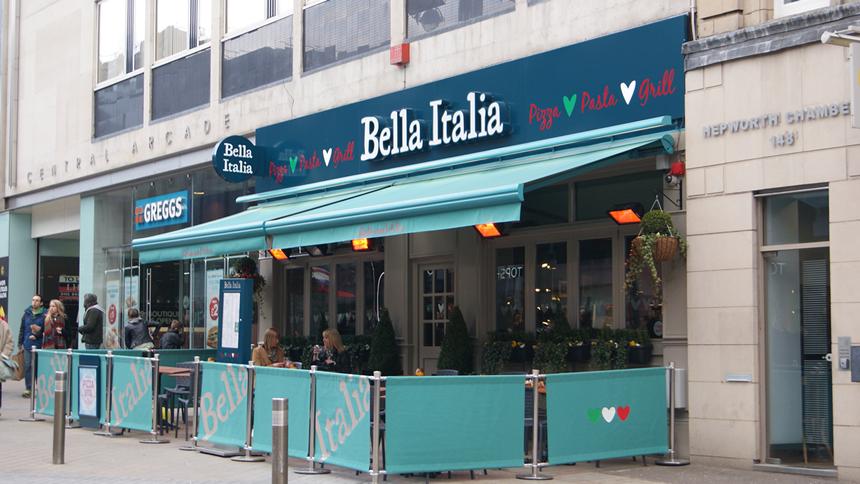 Bella Italia. 7% cashback